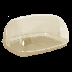 Хлебница овальная мини 32х25х17 см бежевая Алеана 167081