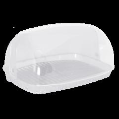 Хлебница овальная мини 32х25х17 см белая Алеана 167081