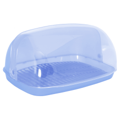 Хлебница овальная мини 32х25х17 см голубая Алеана 167081