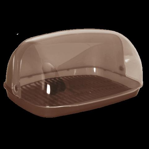 Хлебница овальная миди 36х27х18 см коричневая Алеана 167081