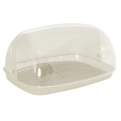 Хлебница овальная миди 36х27х18 см кремовая Алеана 167081
