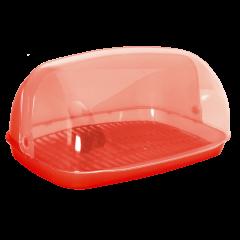 Хлебница овальная мини 32х25х17 см красная Алеана 167081