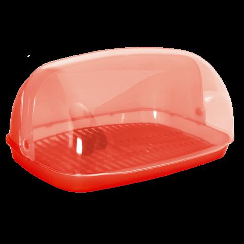 Хлебница овальная миди 36х27х18 см красная Алеана 167081