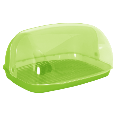 Хлебница овальная мини 32х25х17 см салатовая Алеана 167081
