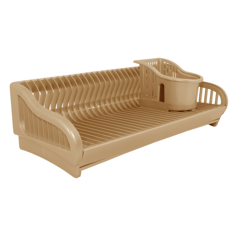 Сушка для посуды 2 в 1 53х23х19 см бежевая Алеана 167091