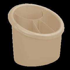 Подставка для столовых приборов 17х13х15,5 см бежевая Алеана 167094