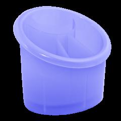 Подставка для столовых приборов 17х13х15,5 см голубая Алеана 167094