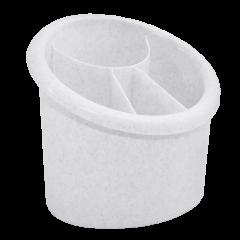 Подставка для столовых приборов 17х13х15,5 см мраморная Алеана 167094