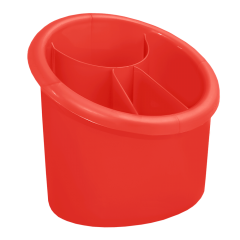 Подставка для столовых приборов 17х13х15,5 см красная Алеана 167094