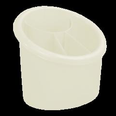 Подставка для столовых приборов 17х13х15,5 см белая Алеана 167094