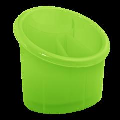 Подставка для столовых приборов 17х13х15,5 см зелёная Алеана 167094