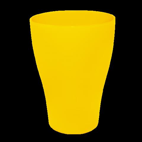 Стакан 0,25 л 10 шт жёлтый матовый Алеана 167096