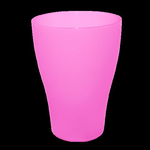 Стакан 0,25 л 10 шт розовый Алеана 167096