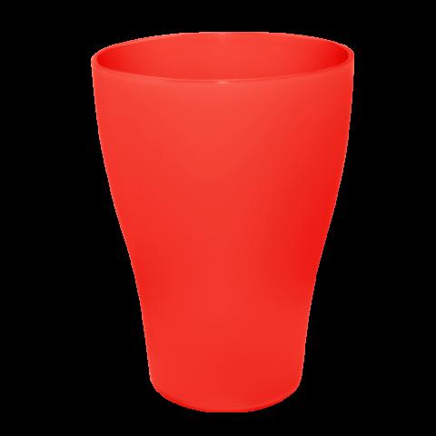Стакан 0,25 л 10 шт красный Алеана 167096