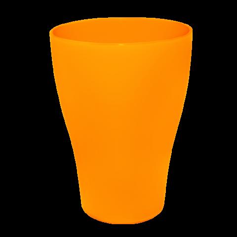 Набор бокалов 0,5 л 10 шт оранжевый матовый Алеана 167202