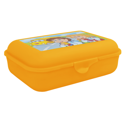 Бутербродница 19х13,5х6,5 см оранжевая Алеана 167400