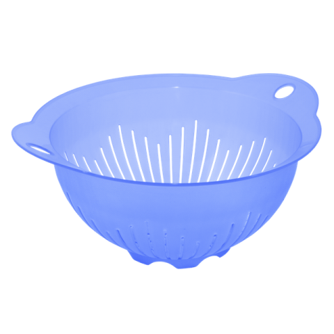 Дуршлаг-миска с ручками 29,5х25,5х13,5 см голубой Алеана 167401