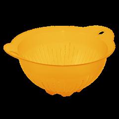 Дуршлаг-миска с ручками 29,5х25,5х13,5 см оранжевый Алеана 167401