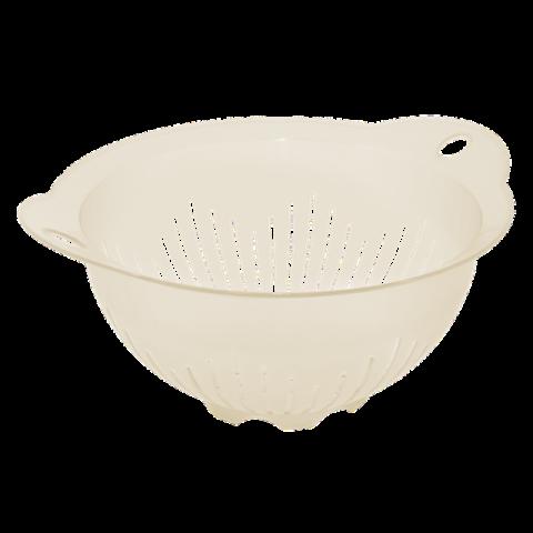 Дуршлаг-миска с ручками 29,5х25,5х13,5 см белый Алеана 167401