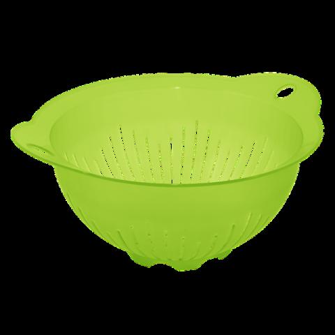 Дуршлаг-миска с ручками 29,5х25,5х13,5 см салатовый Алеана 167401