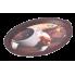 Поднос овальный с декором кофе 47х35х3,5 см Алеана 167403