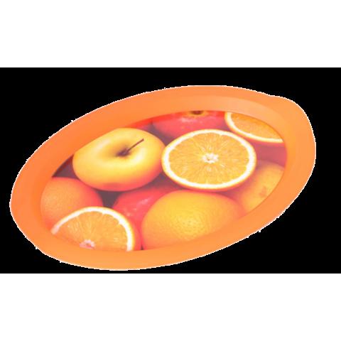 Поднос овальный с декором апельсины 47х35х3,5 см Алеана 167403
