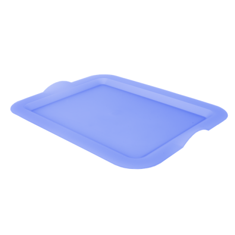 Поднос прямоугольный 46,5х36,5х3,5 см голубой Алеана 167404