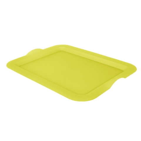 Поднос прямоугольный 46,5х36,5х3,5 см жёлтый Алеана 167404