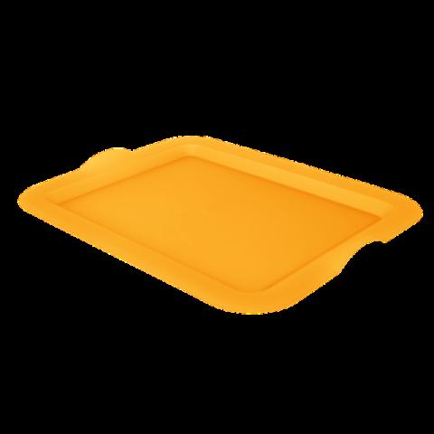 Поднос прямоугольный 46,5х36,5х3,5 см оранжевый Алеана 167404