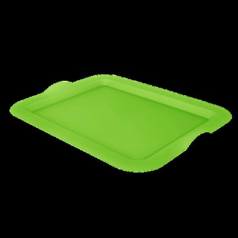 Поднос прямоугольный 46,5х36,5х3,5 см зелёный Алеана 167404