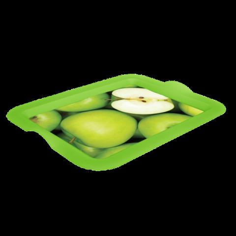 Поднос прямоугольный с декором яблоки 46,5х36,5х3,5 см Алеана 167404