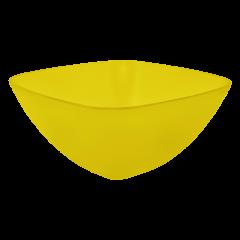 Салатница 0,3 л жёлтая прозрачная Алеана 168001