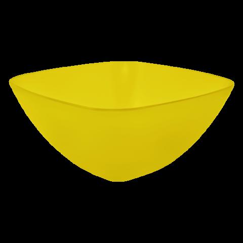 Салатница 2,5 л жёлтая прозрачная Алеана 168003