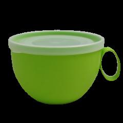 Чашка с крышкой 0,5 л 14х12х8 см зелёная Алеана 168006