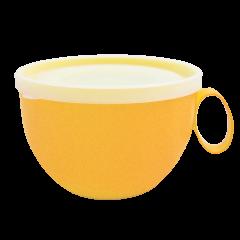 Чашка с крышкой 0,5 л 14х12х8 см светло-жёлтая Алеана 168006