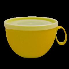 Чашка с крышкой 0,5 л 14х12х8 см тёмно-жёлтая Алеана 168006