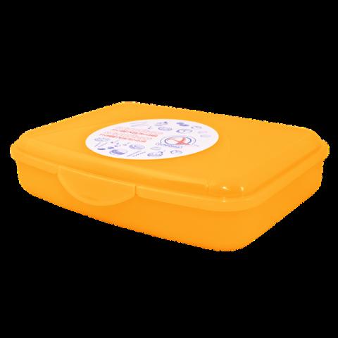 Контейнер универсальный 20х20х8 см оранжевый Алеана 168018