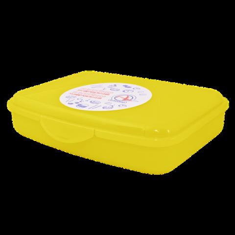 Контейнер универсальный 18,8х14,5х4,3 см жёлтый Алеана 168017