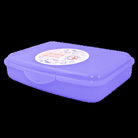 Контейнер универсальный 18,8х14,5х4,3 см фиолетовый Алеана 168017