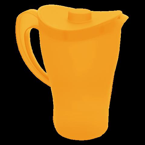 Кувшин с крышкой 0,5 л оранжевый Алеана 168033