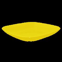 Тарелка 0,9 л 25х25х3 см жёлтая матовая Алеана