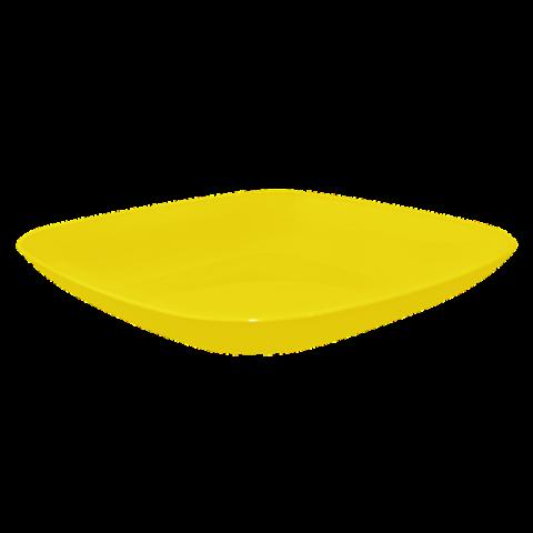 Тарелка 0,5 л 19х19х2,8 см жёлтая матовая Алеана