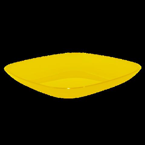 Тарелка 0,9 л 25х25х3 см жёлтая прозрачная Алеана