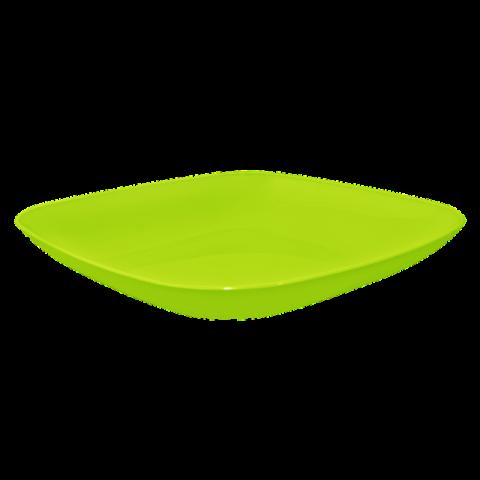 Тарелка 0,9 л 25х25х3 см салатовая Алеана
