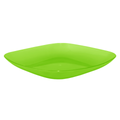Тарелка 0,9 л 25х25х3 см зелёная Алеана