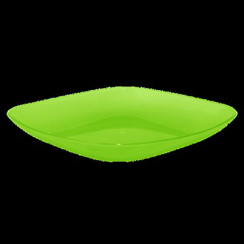 Тарелка 0,5 л 19х19х2,8 см зелёная Алеана