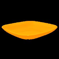 Тарелка 0,9 л 25х25х3 см оранжевая Алеана