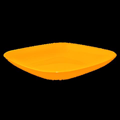 Тарелка 0,5 л 19х19х2,8 см оранжевая Алеана