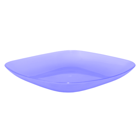 Тарелка 0,9 л 25х25х3 см голубая Алеана