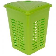 Корзина для белья угловая салатовая, Ал-Пластик, Арт.: 299